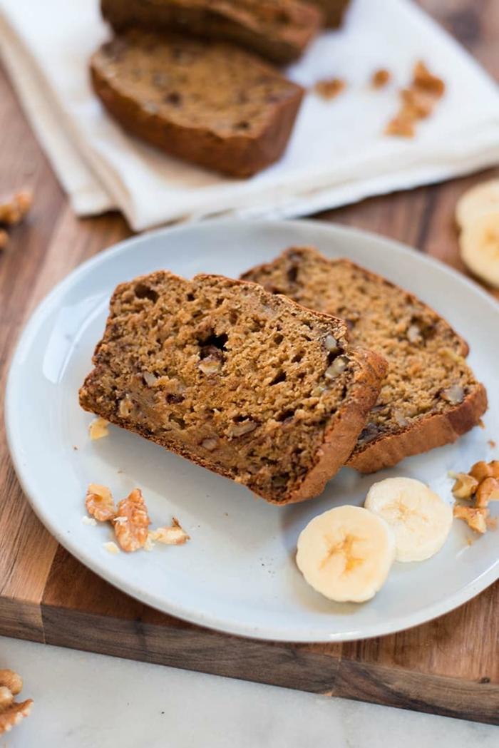 bananenbrot ohne ei einfache zubereitung kuchen mit walnüssen und bananen leckerer nachtisch