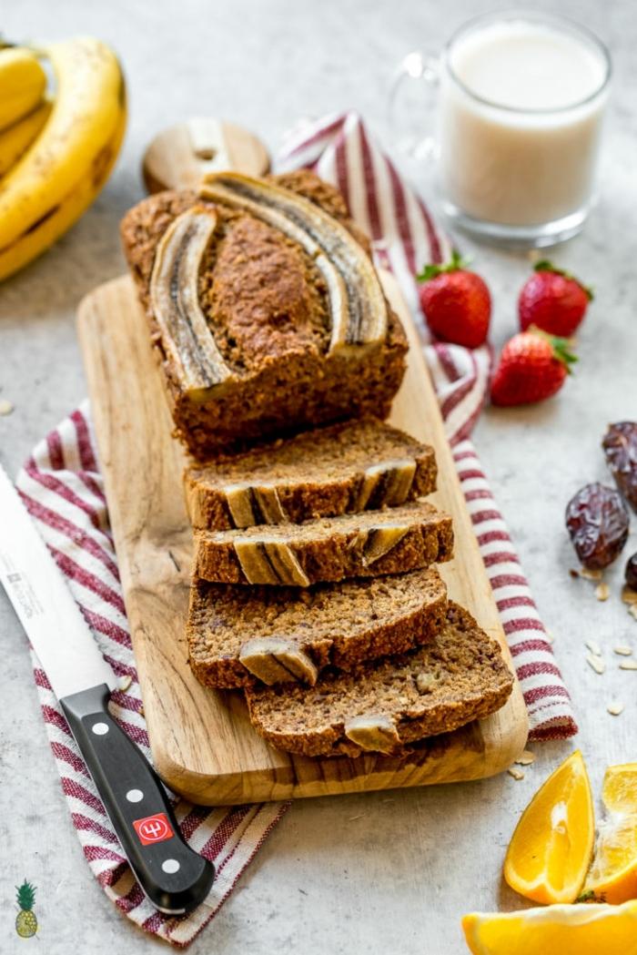 bananenbrot ohne zucker leckerer kuchen mit bananen brunch selber machen ideen