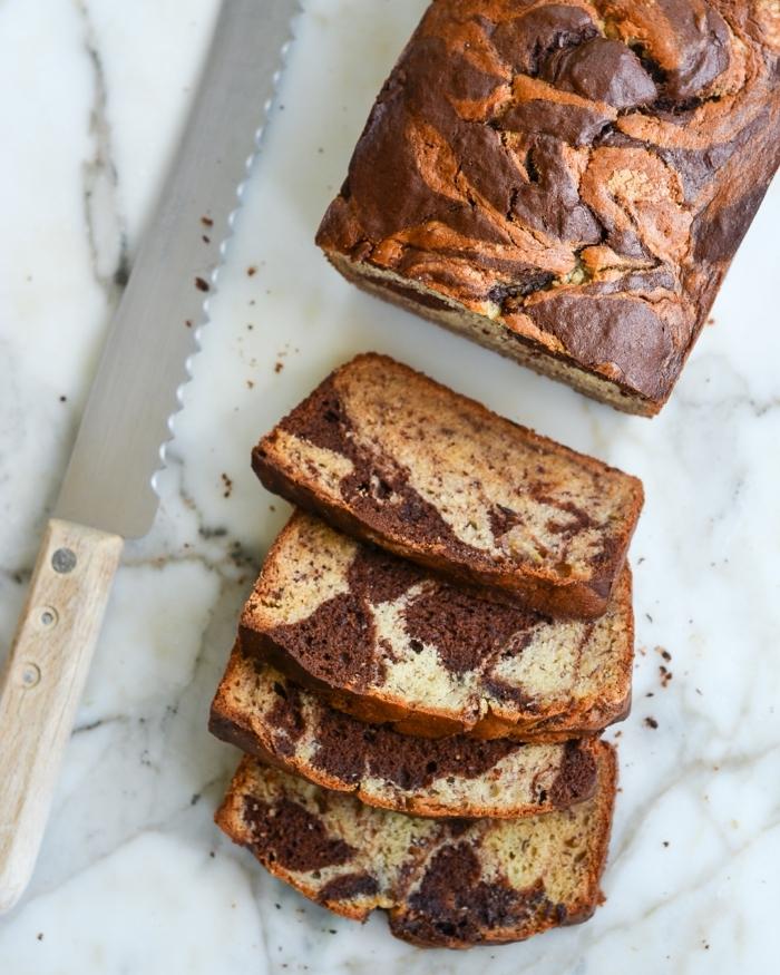 bestes bananenbrot rezept einfach und schnell leckere kuchenrezepte marmor kuchen mit schokoalde