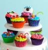 candy cupcakes kindergeburtstag verzieren für kinder bunte farben lustinge muffins backen für geburtstagsparty