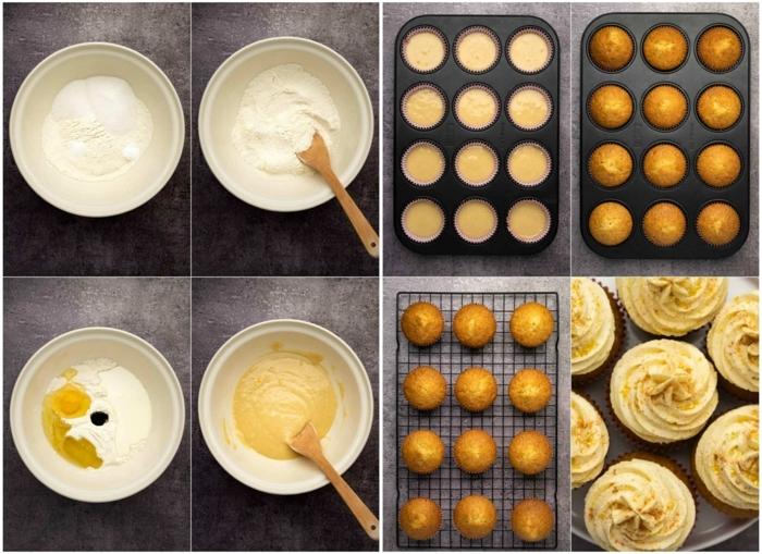 collage backen schritt für schritt anleitungen cupcackes rezept kuchen backen