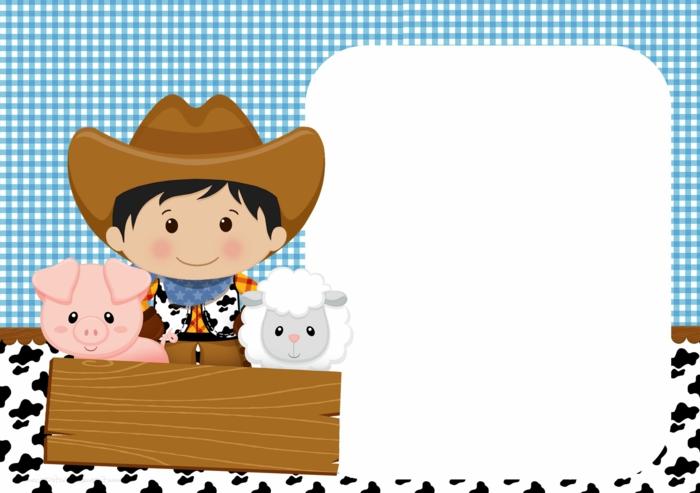 cowboy party geburtstag einladungskarten kindergeburtstag zum ausdrucken jungs kostenlose vorlagen