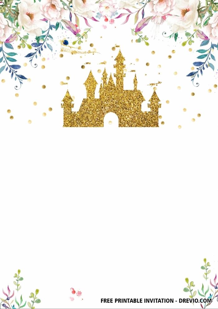 disney schloss einladung kindergeburtstag vorlage einladungskarten geburtstag kind zum ausdrucken kostenlos