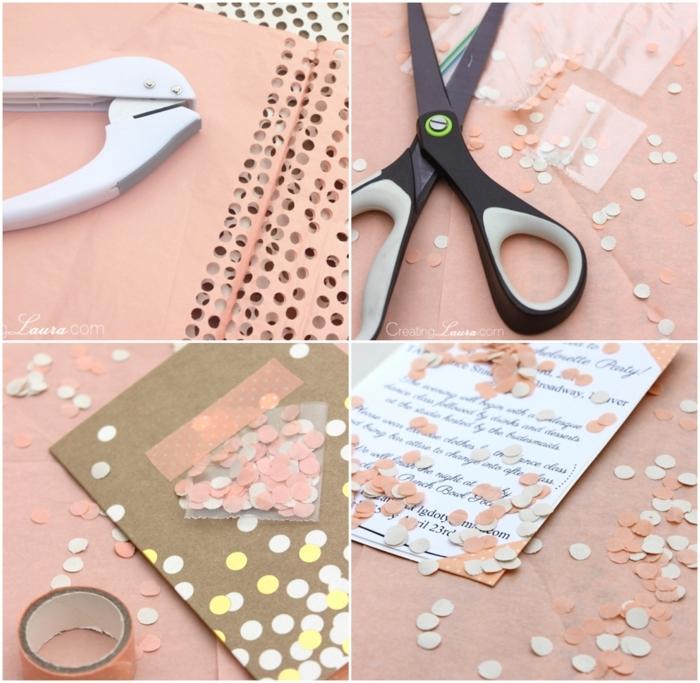 diy anleitung schritt für schritt konfetti geburtstagseinladung kinder basteln kreative bastelideen