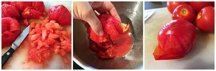 eine schritt für schritt diy anleitung für eine sebstgemachte soße aus frischen roten tomaten einkochen ein messer