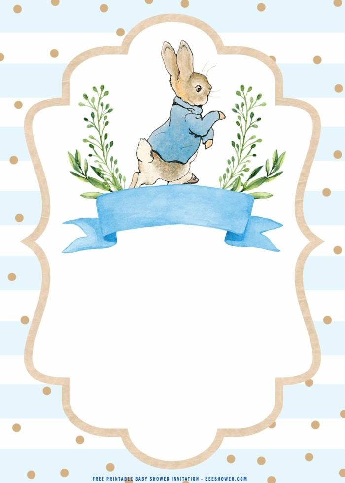 einladungskarten 1 geburtstag vorlage blau mit einem hasen süße ideen einladung kindergeburtstag