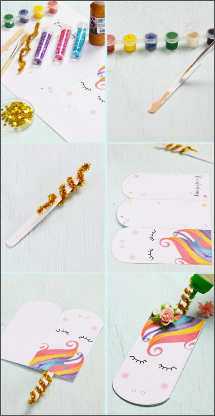 einladungskarten regenbogen best einladungen einladung einhorn süße einhorn einladungskarte zum