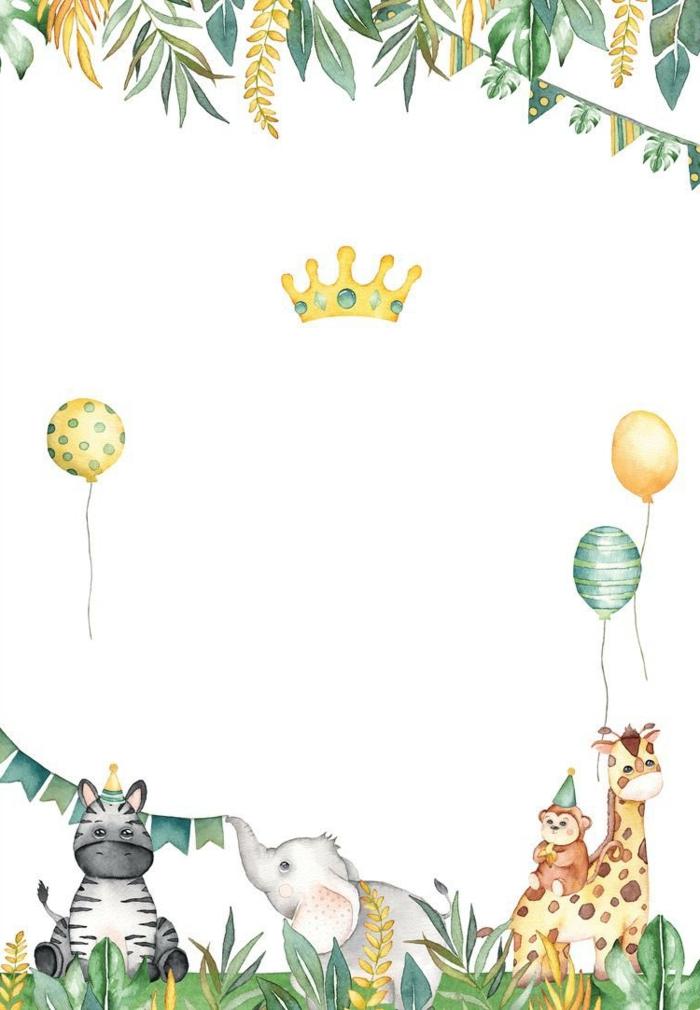 einladungskarten kindergeburtstag zum ausdrucken jungs geburtstagsparty einladung mit tieren süße ideen