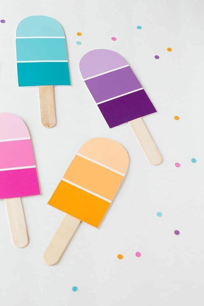 eis am stiel verschiedene farben einladung zum kindergeburtstag diy anleitung schritt für schritt kreative ideen zum basteln
