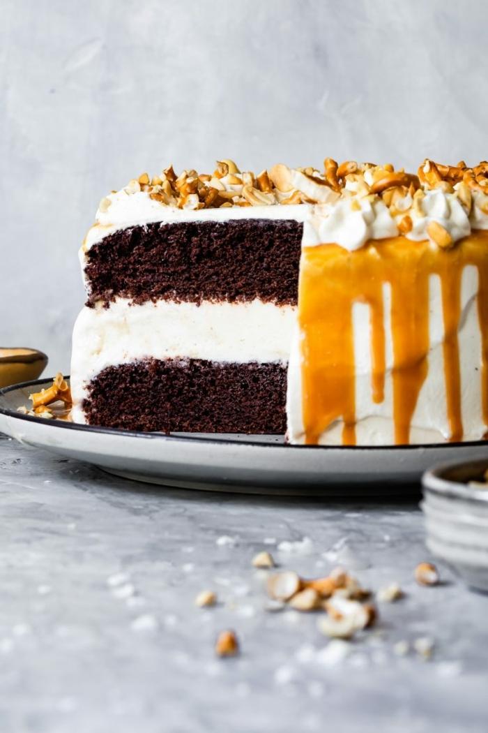 essen für viele personen wenig aufwand gluteinfreier kuchen mit schokboden und eiscreme torte selber machen rezept