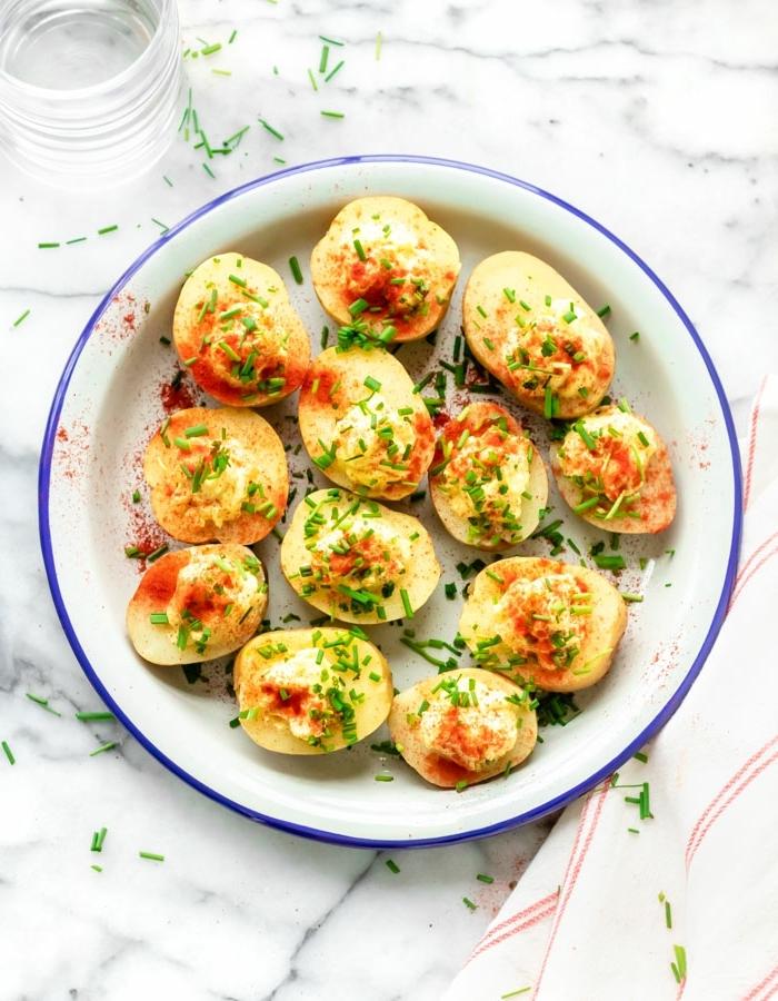 essen für viele personen wenig aufwand vegetarische häppchen aus kartoffelnleckere partyrezepte