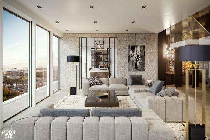 farben für wohnzimmer moderne wohnzimmergestaltung in grau designer möbel wohnung einrichten beispiele