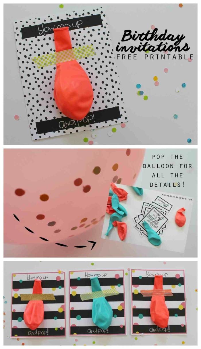 geburtstagseinladung kinder basteln luftballons mit konfetti originelle und kreative ideen zum basteln