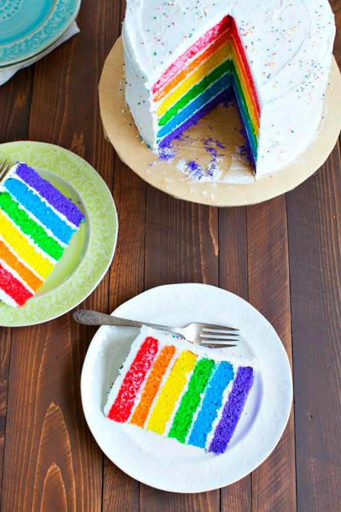 geburtstagsparty ideen regenbogen torte rezept leicht und lecker torten für kindergeburtstag zum selber machen