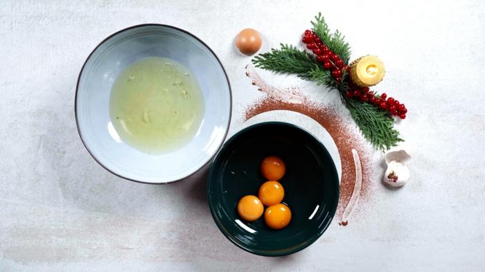 gesunde buche de noel selber machen eier trennen zubereitungsweise weihnachtliches dessert