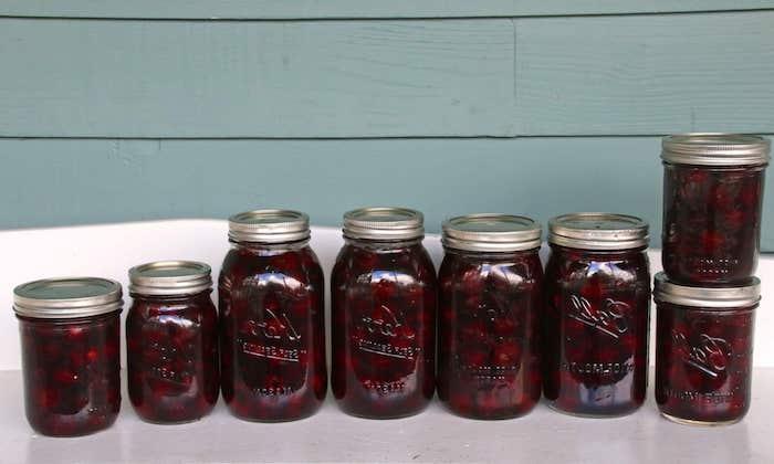 gläser mit roten eingekochten kirschenkirschen entkernen und einkochen anleitung
