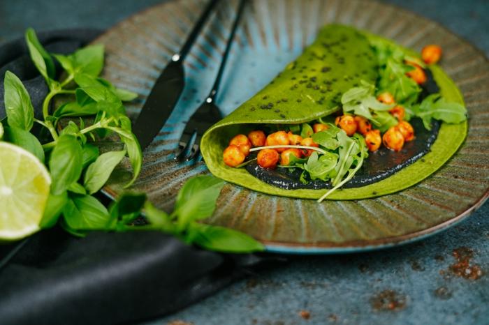 grüne pfannkuchen selber machen green pancakes zum halloween zubereiten schritt für schritt