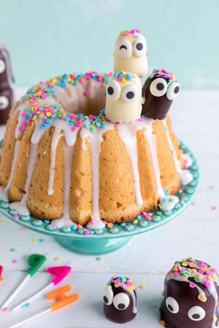 gugelhupf lustige kuchen kindergeburtstag zitronenkuchen selber machen leichte und leckere rezepte dekoration mit konfetti