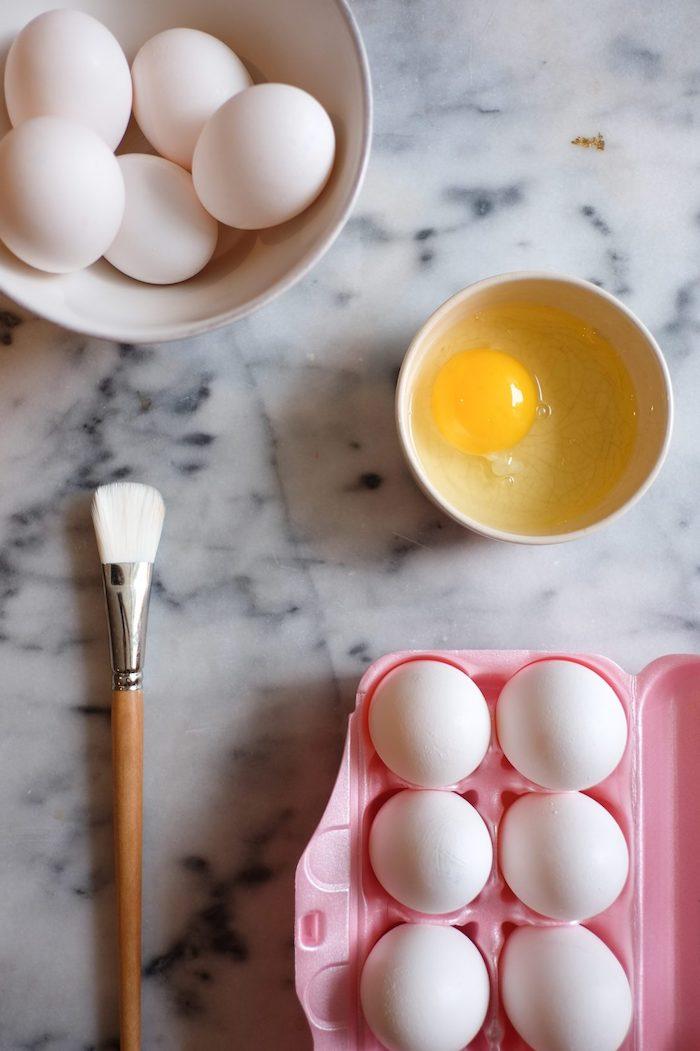 haarkur mit ei mandelöl und kokosnussöl haare diy rezept selber machen wie gut ist olivenöl für die haare