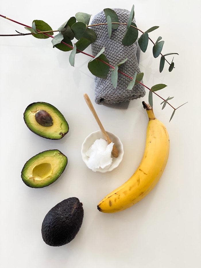 haarmaske mit wenigen zutaten kokosöl haare haarkur mit banane und avocado haarpflege