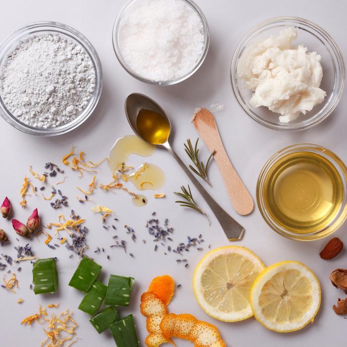 hausmittel für haarmasken honig kokosöl haare aloe vera zitrone haarmaske selber machen