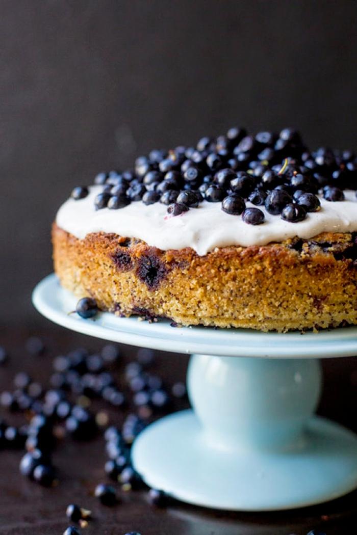 heidelbeer mandel zitronen kuchen mit wenig zutaten leckere und schnellerezepte für desserts