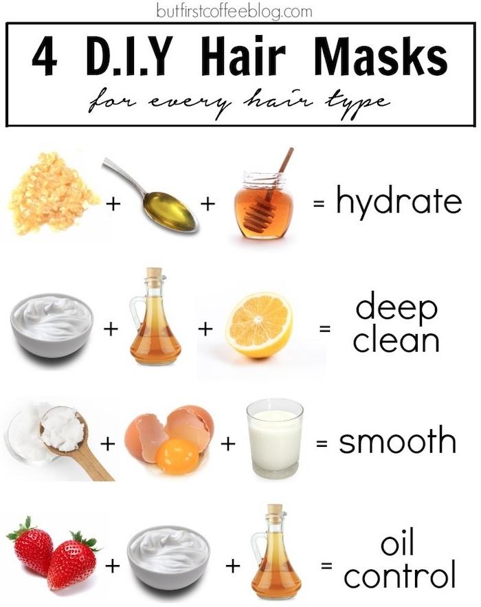 idee 4 diy haarmasken ist joghurt gut für die haare haarkur kokosöl ei ist joghurt git für die haare