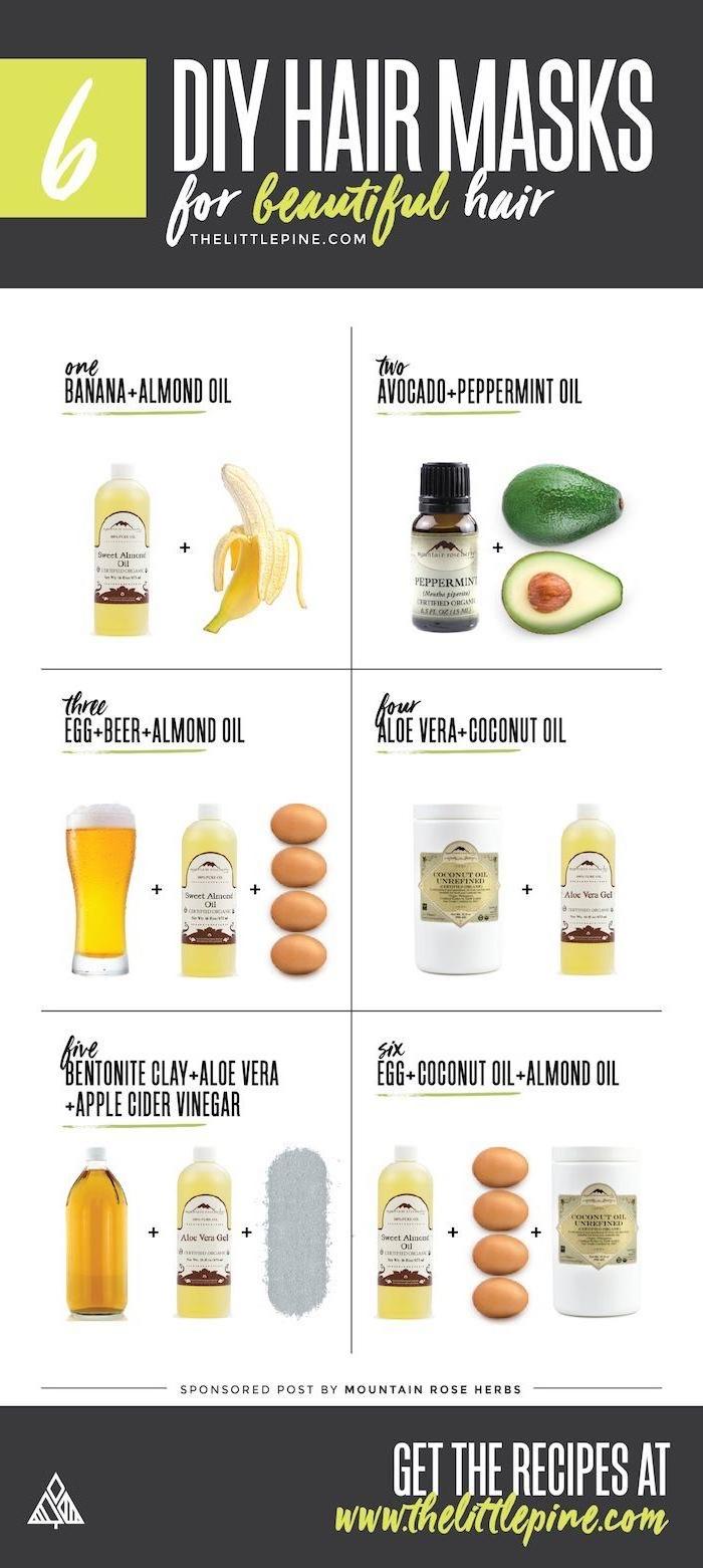 ideen für sechs haarmasken für wunderschöne haare feuchtigkeitsspendende haarkur mit ei avocado bier