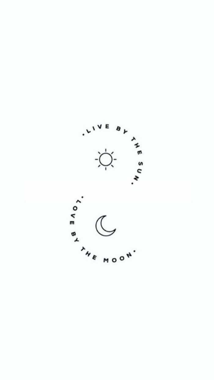 inspiration und ideen für minimalistische tattoos mini tattoo live by the sun love by the moon