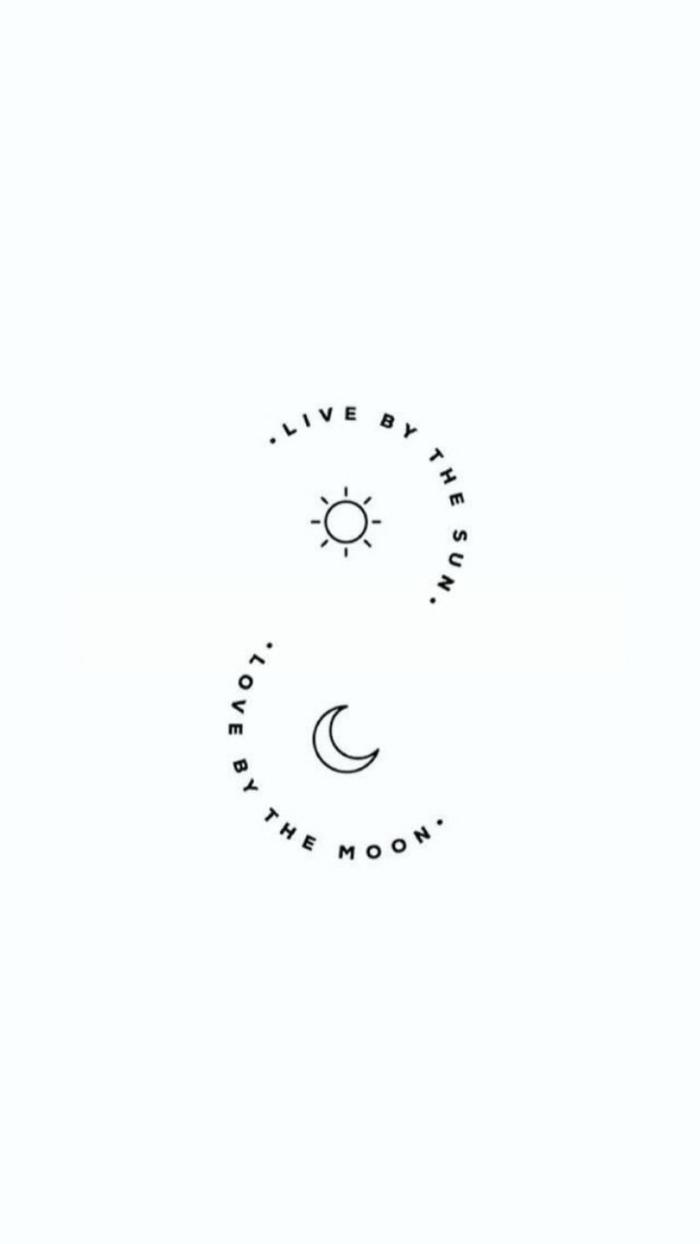 inspiration und ideen für minimalistische tattoos mini tattoo live by the sun love by the moon