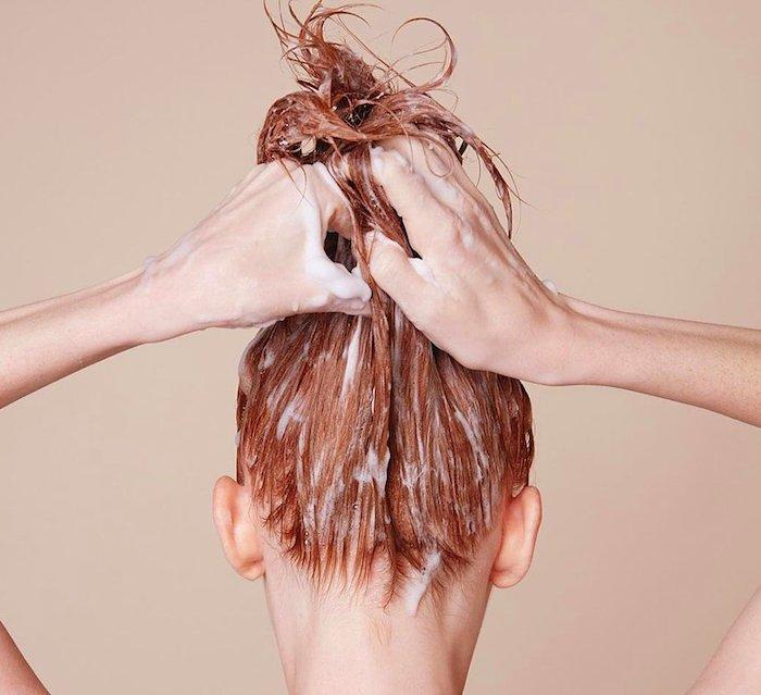 ist joghurt gut für die haare kokosöl für die haare frau mit roten haaren richtige haarpflege
