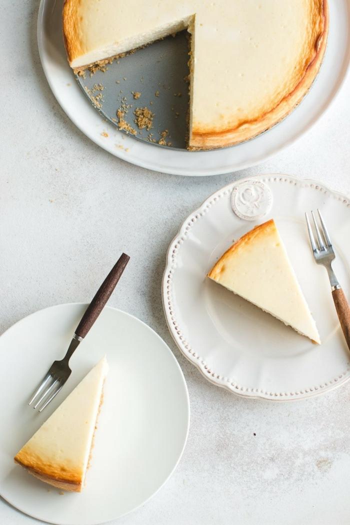 käsekuchen ohne boden mit puddingpulver cheesecake mit vanille frischkäsekuchen kuchen mit frischkäse
