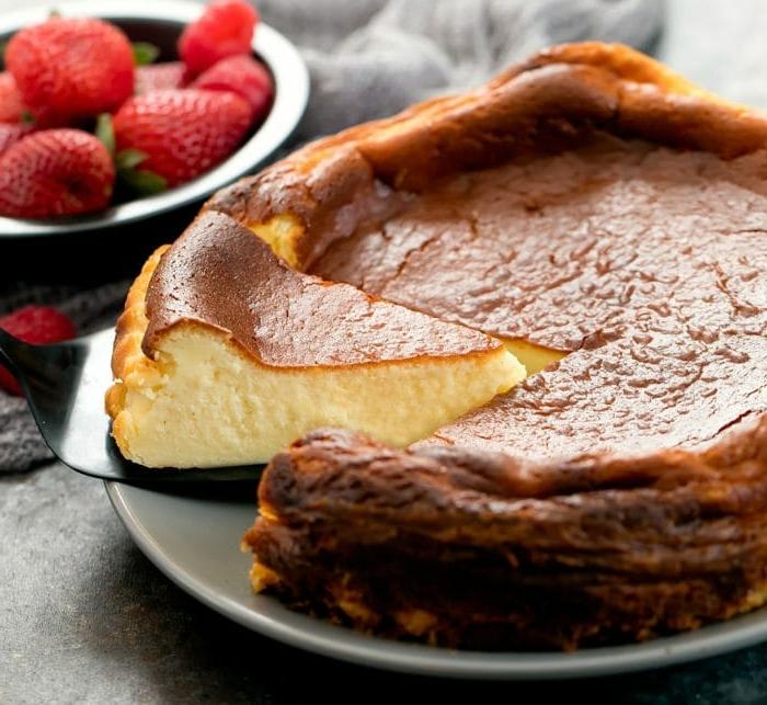 käsekuchen rezept ohne boden frischkäkuchen backen vanillekuchen mit wenigen zutaten