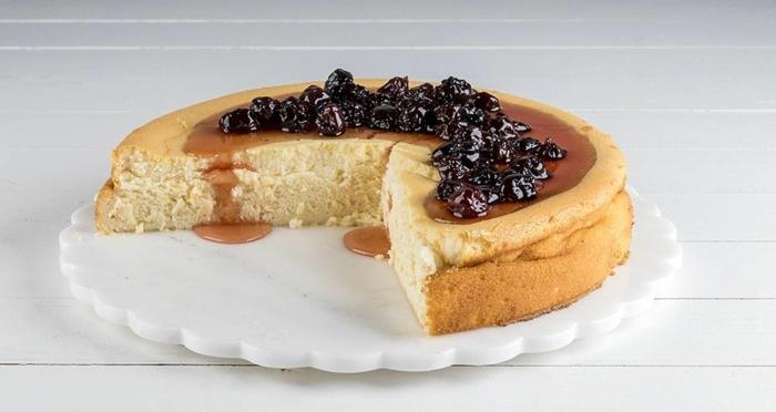 käsekuchen rezept ohne boden vanillekuchen mit kirschmarmelade cheescake die besten rezepte