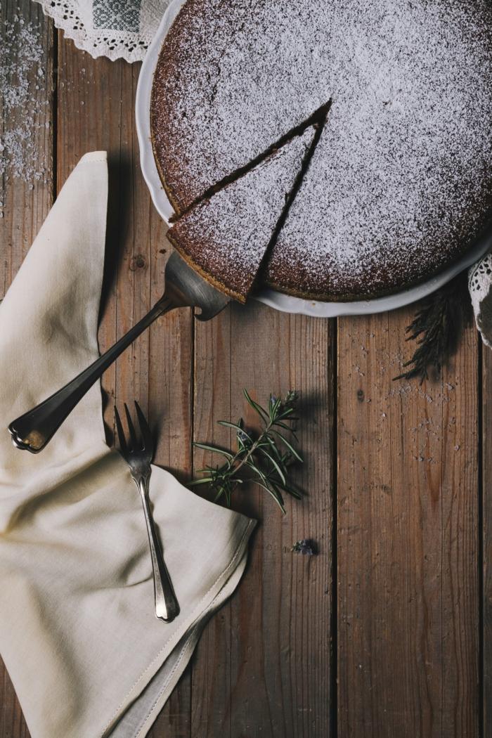 kaffee oder tee rezepte sonntagkuchen heute schokoladenkuchen mit puderzucker mit wenigen zutaten backen
