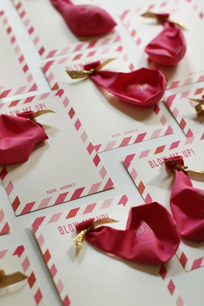 kreative einladungskarten kindergeburtstag selber basteln rote luftballons basteln ideen kreativ