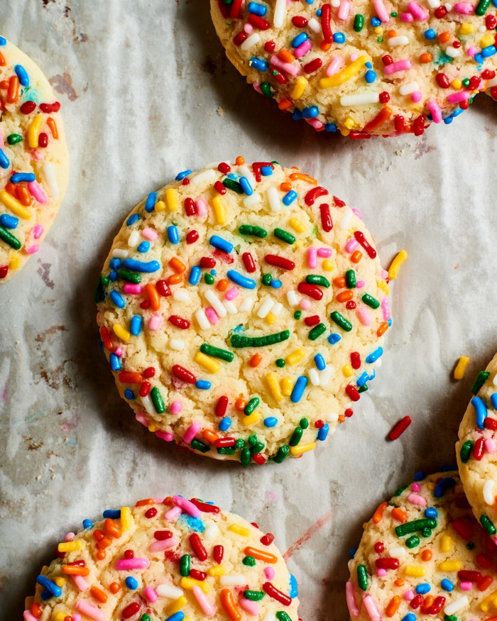 leckere plätzchen schnelle kekse wenig zutaten baken rezepte einfach funfetti kekse