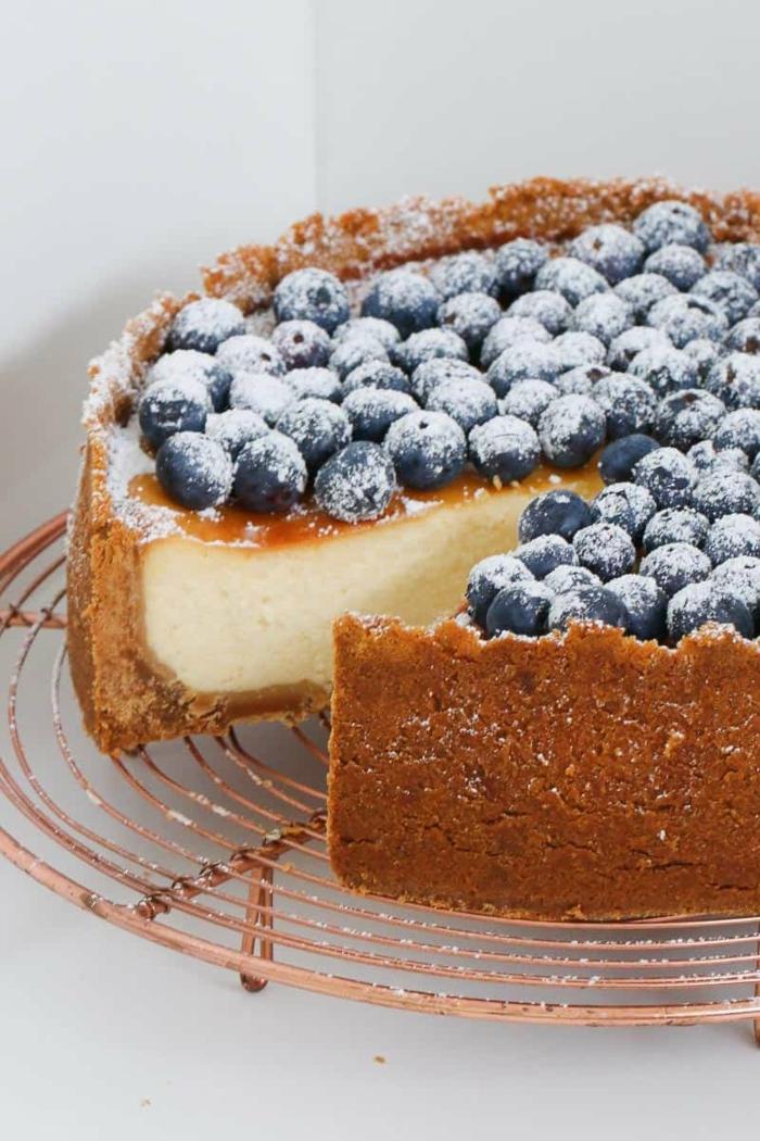 leckerer käsekuchen mit blaubeeren backen einfache und schnelle kuchenrezepte köstliche desserts