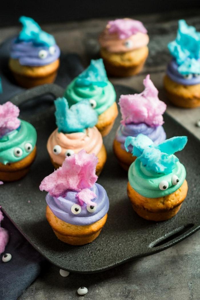 lustige muffins für kindergeburtstag bunte farben leckere rezepte zum backen für geburtstage für kinder