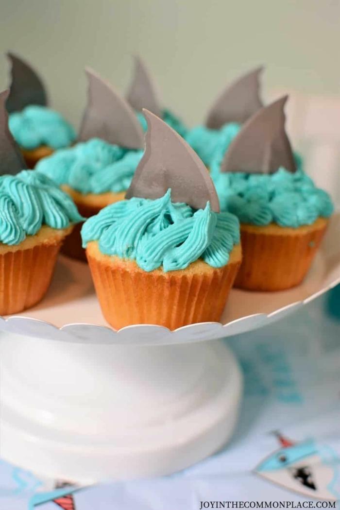 meerestiere haie meer cupcakes muffins für kindergeburtstag leckere rezepte zum backen kekse