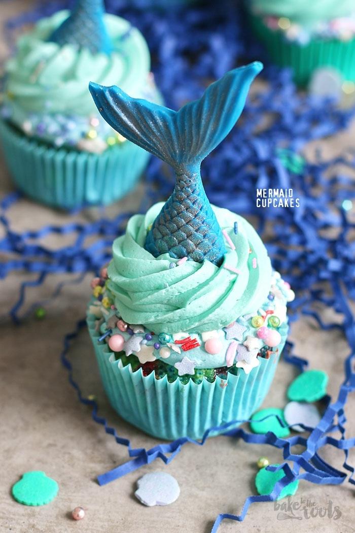 meerjungfrau cupcakes lustige kuchen kindergeburtstag ideen für kinderpartys desserts kuchen leckere rezepte