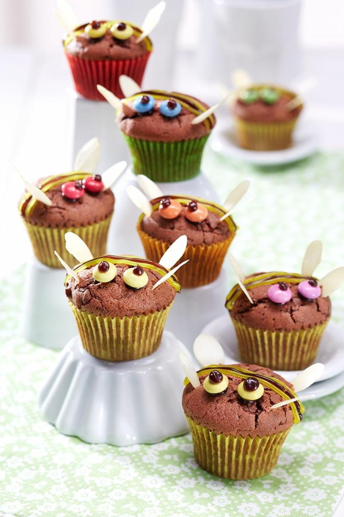 monster muffins mit schokolade lustige muffins für kindergeburtstag backen für kinder leckere rezepte