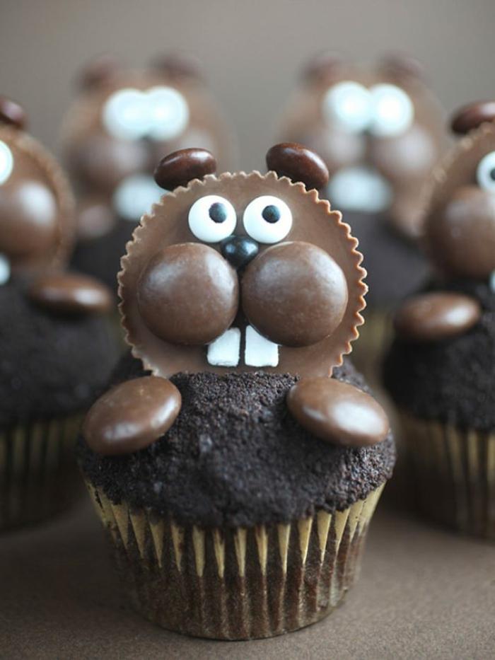 muffin rezept kinder cupcake biber mit schokolade lustige muffins für kindergeburtstag