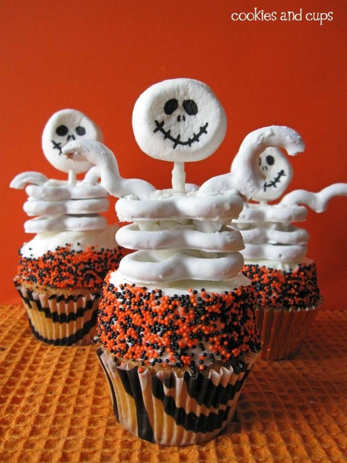 muffins für kinder weiße gespenster cupcakes lustige muffins für kindergeburtstag party desserts ideen rezepte