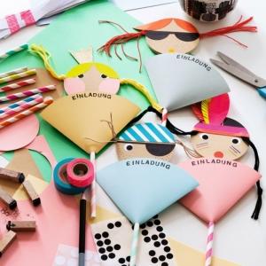 Einladungskarten für Kindergeburtstag - kreative DIY Ideen