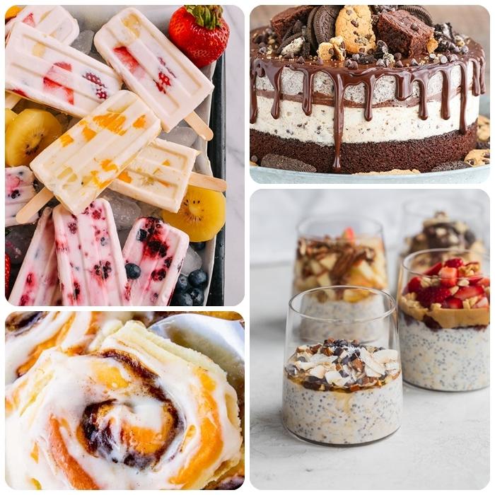 party essen ideen rezepte für den sommer sommerrezepte eicsreme kuchen eiscreme selber machen gesunder nachtisch mit chia und joghurt
