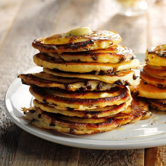 pfannkuchen rezept süß brunch ideen pfannkuchenrezept mit blaubeeren einfache zubereitung