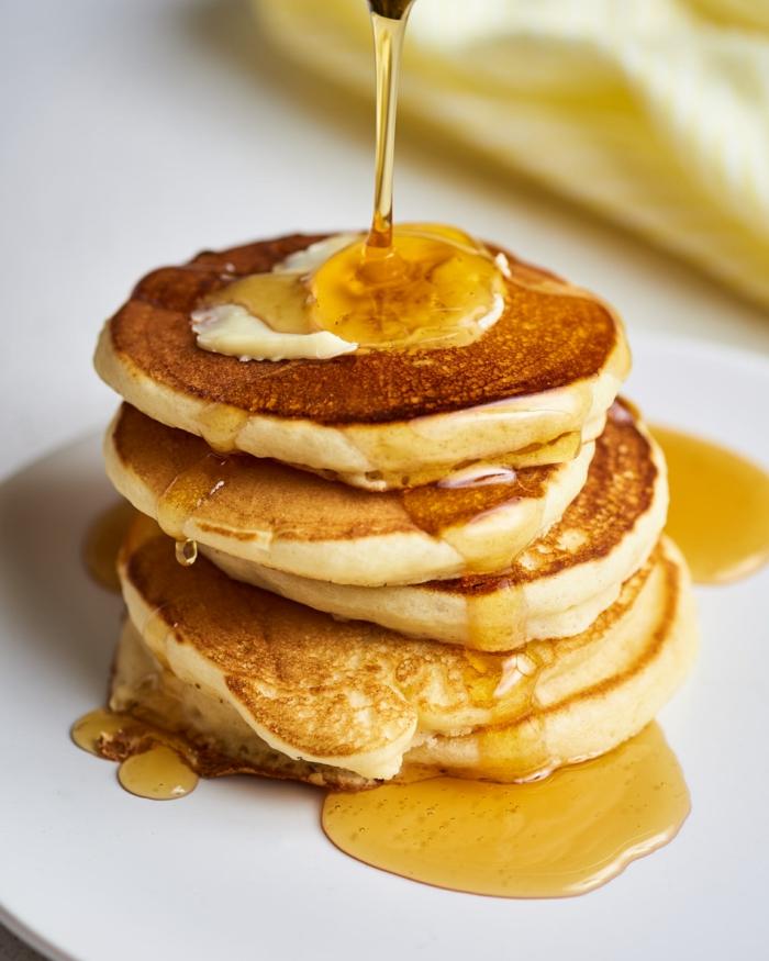 pfannkuchen rezept süß leckere frühstücksrezepte was kann ich frühstücken amerikanisches frühstück honig
