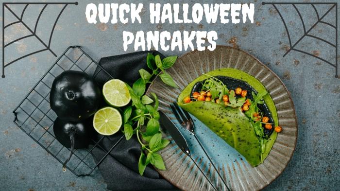 pfannkuchen selber backen rezepte zum halloween essen ideen food grüne pancakes archzine