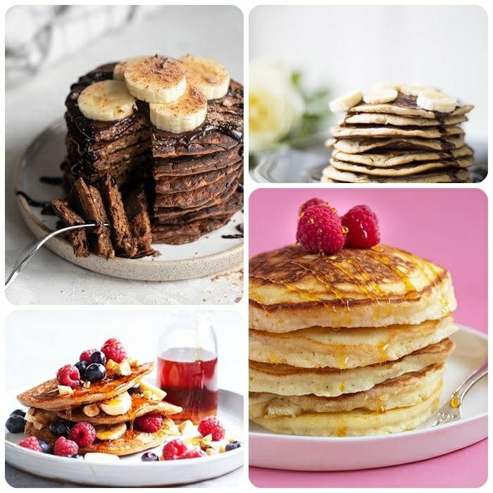 pfannkuchen selber machen die besten rezepte und ideen schokopfannkuchen mit bananen frühstück mit beeren